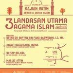 """Jadwal Kajian, """"3 Landasan Utama – Syarah Ushul Tsalatsah"""" Ustadz Dr. Sofyan Basweidan, MA"""
