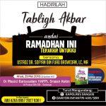 """Info Tabligh Akbar, """"Andai Ini Ramadhan Terakhirku"""" Ustadz Dr. Sofyan Basweidan, MA. Masjid Baitussalam, YAPPI, Sragen (Ahad, 29 Mei 2016)"""