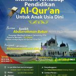 """Tabligh Akbar bersama Syaikh AbdurRahman Bakr, """"Ihtimam terhadap Pendidikan Al-Qur'an untuk Anak Usia Dini"""" (Boyolali, Jum'at 11 November 2016)"""