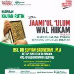 Jadwal Kajian Rutin, Masjid Subulussalam, Surakarta