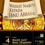 "Kajian Akbar ""Wasiat Nabi kepada Ibnu Abbas"" Bersama UST. DR. FIRANDA ANDIRJA, MA"