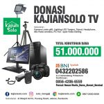 Donasi Pengadaan Kamera dan Peralatan Kajian Solo