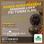 Donasi Ifhor Ramadhan 1439 H FSI Tunas Ilmu