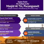 Jadwal Kajian Rutin, Masjid At-Tin, Pucangsawit (Depan gerbang UNS)