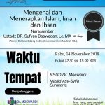 "Download Rekaman Kajian (Audio) ""Mengenal Islam Iman dan Ihsan"" Bersama Ustadz Dr. Sufyan Baswedan, Lc,. MA."