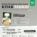 Open Donasi Cetak dan Penyebaran Buku Kitab Tauhid
