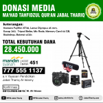 Donasi Studio & Media Ma'had Jabal Thariq Sragen