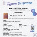 """Info Dauroh Yaumul Ilmi Pembahasan Kitab """" Maqoshid Asshaum """" Makkah Islamic Center Karanganyar"""